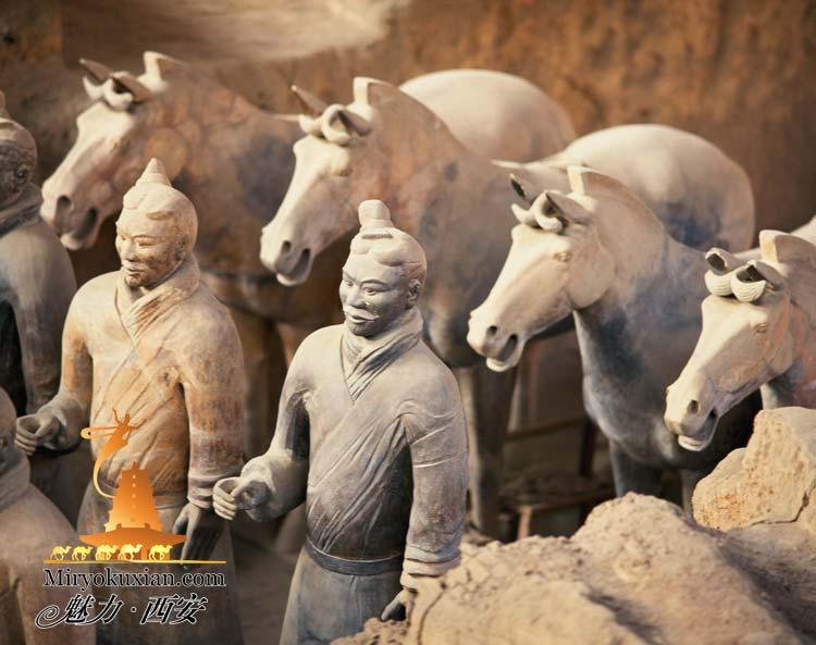 200862711245 始皇帝陵、兵馬俑。皇帝の従者が守る壮大なの地下宮殿!