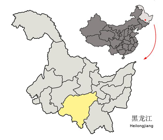 694px Location of Harbin Prefecture within Heilongjiang China 中国ハルビンの大気汚染が深刻な事態に!測定数値は計測不能を示す!