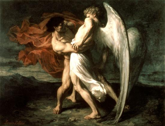 Leloir   Jacob Wrestling with the Angel イスラエル。国名の由来は人の名前。