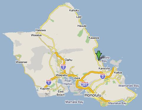 Oahu Map1 サンドバー、ハワイの海上に広がる幻の砂浜!