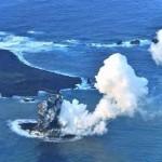小笠原諸島で火山活動によって新しい島が誕生!西之島新島にてなんと合体!