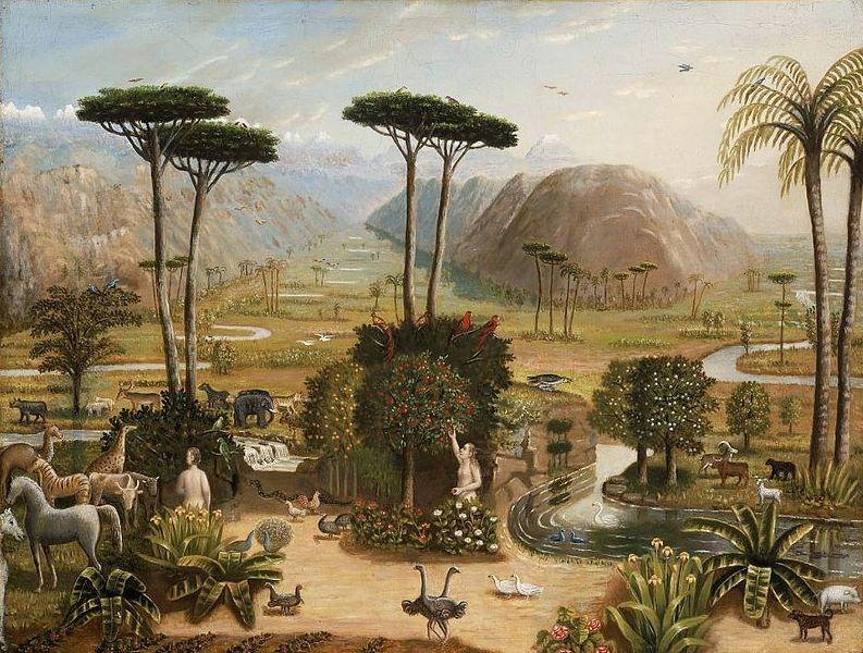 793px Erastus Salisbury Field   The Garden of Eden エデンの園、聖書に登場する理想郷。
