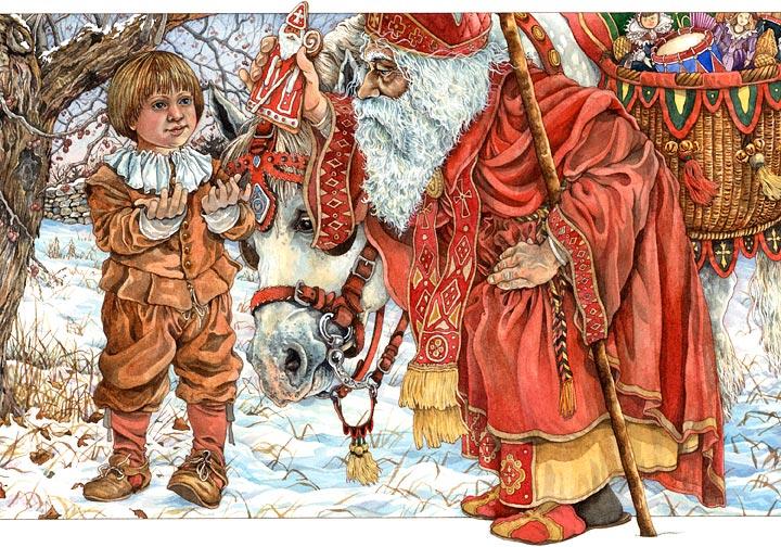 Baker art ブラックサンタクロース(クネヒト・ループレヒト)、ドイツに伝わる本当は怖いクリスマス。