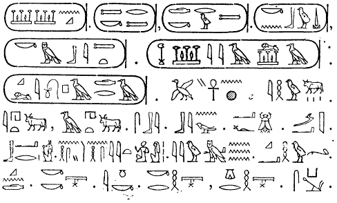 Egyptiska hieroglyfer Nordisk familjebok 聖なる文字ヒエログリフ。解読までの道のり。