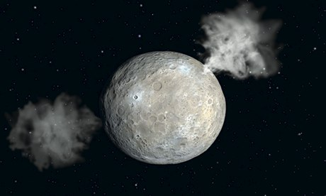 Asteroid Ceres with twin 011 準惑星ケレスか...  太陽系の星々の