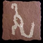 恐竜壁画、古代の遺物に恐竜と見られる絵が。