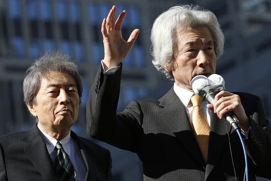 BN BF107 koizum G 20140123040254 東京都の新知事は舛添氏に!最注目だった細川元総理は大敗!