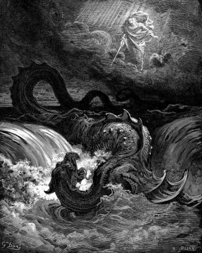 Destruction of Leviathan 401x500 神が自ら生み出した悪魔、リヴァイアサンとベヒーモス。