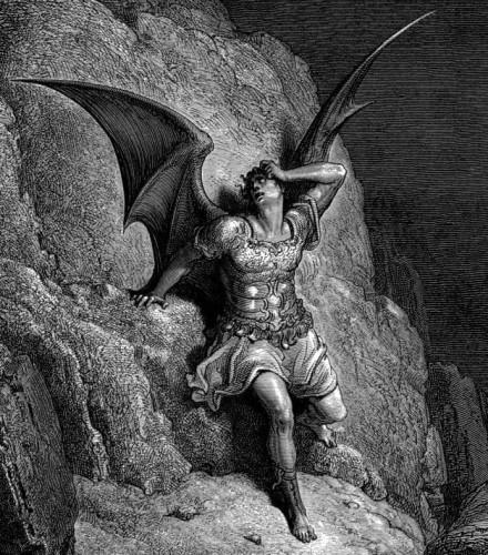 GustaveDoreParadiseLostSatanProfile 440x500 キリストには悪魔の兄がいた?異端な一派に伝わる意外な伝承。