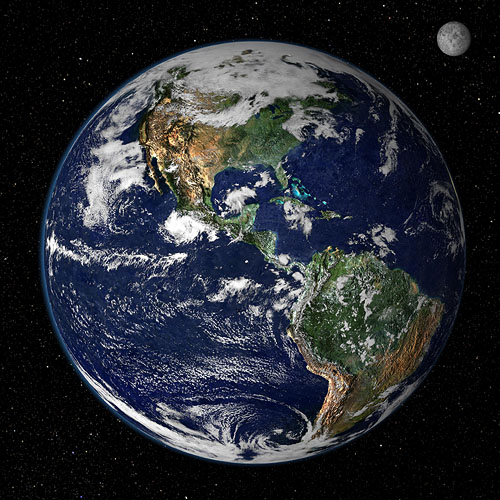 earth from space ガイア理論!地球の自浄作用と人間。