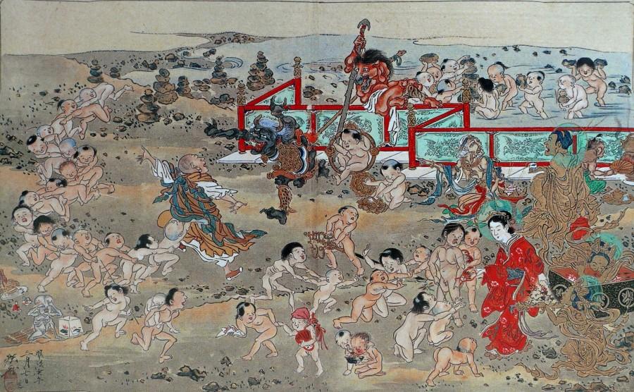 04kyosai10418 900x556 賽の河原、子供達が集まる三途の川のほとり。