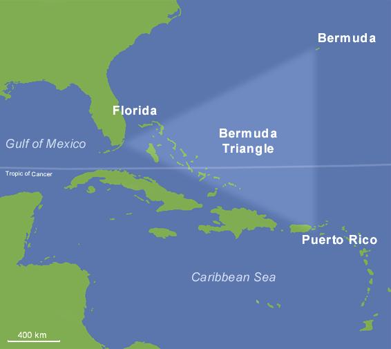 Bermuda Triangle バミューダトライアングル、最も有名な魔の海域!