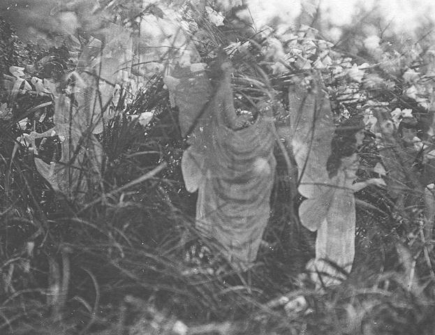 Cottingley sunbath 妖精の写真、捏造判明も残された可能性。