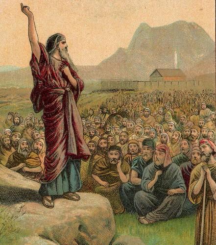 Moses Pleading with Israel crop 441x500 預言と予言の違い。意外に間違える微妙な言葉。