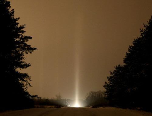 Pillar 4 光柱現象!空へと結ばれた光。