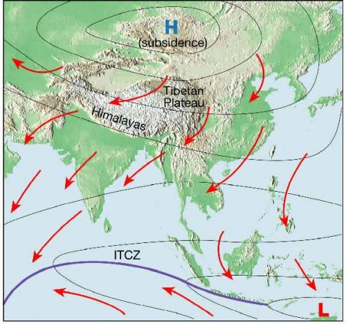 asia winter monsoon 500x468 東南アジアで日照りが続く。懸念される悪影響。