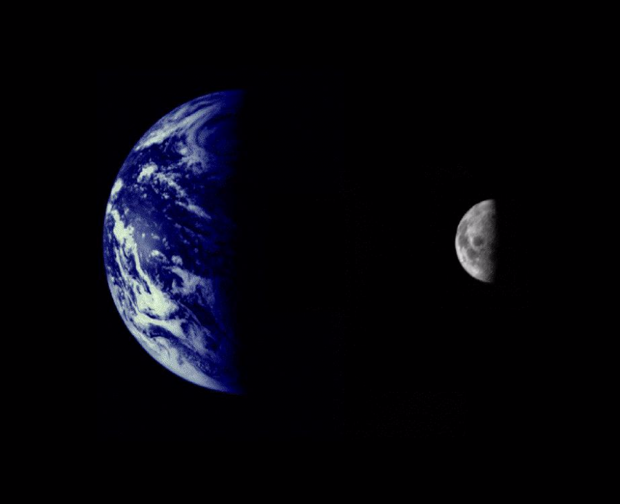 earth moon mariner10 900x731 月誕生の謎、元々は地球と1つだった可能性。