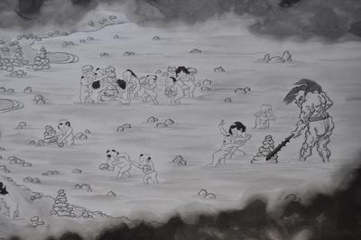 f0dbb1620c66897671213c02c1486c9c 賽の河原、子供達が集まる三途の川のほとり。