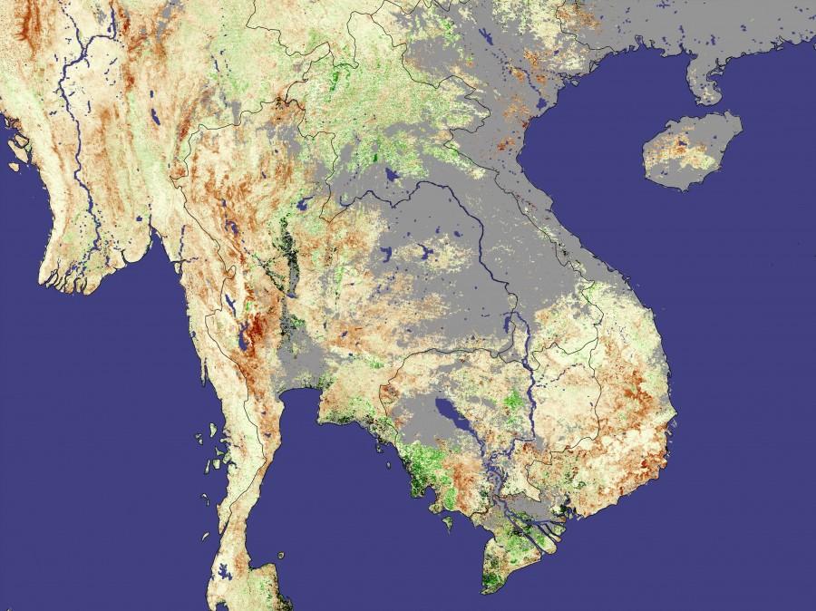 seasia ndvia tmo 18feb05mar05 500m 900x674 東南アジアで日照りが続く。懸念される悪影響。