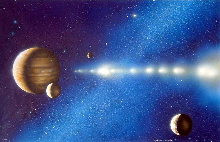 shoemaker levy 9 illustration シュメーカー・レヴィ第9彗星(SL9)、木星に刻まれた破壊の跡。