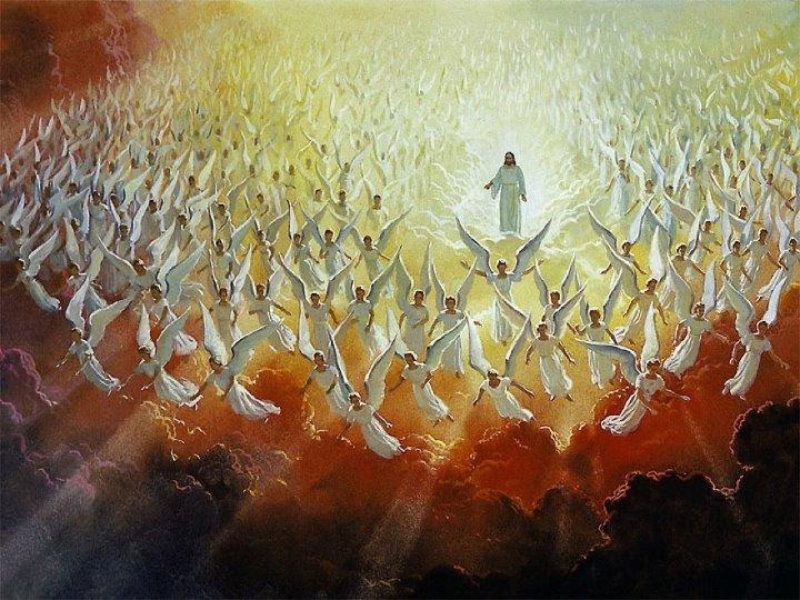 Angels and Christ coming 天使たちは宇宙からやって来た。ダンテの唱えた説。