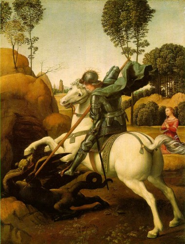 Saint george raphael 380x500 聖ゲオルギオス、ドラゴン退治で有名なキリスト教布教の急先鋒。