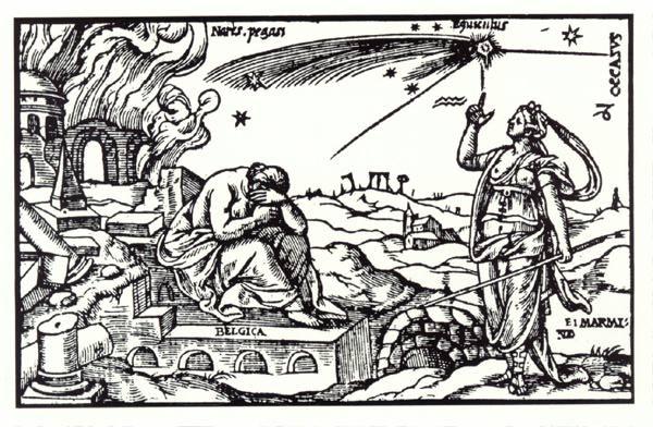 illustrationComet エレニン彗星。謎の電波を発する天体。