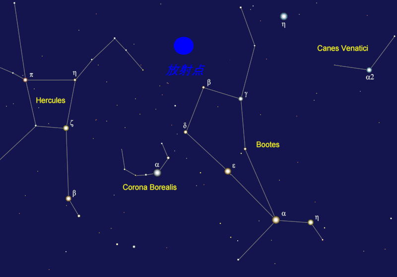 june bootids radiant 6月うしかい座流星群、2014年は6月28日が見ごろ!