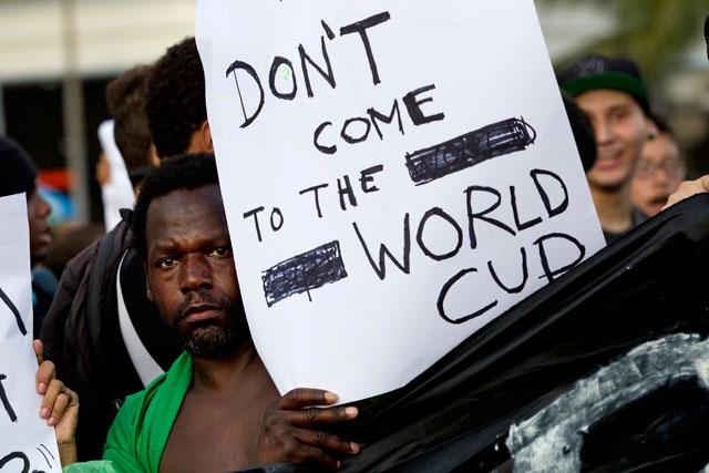 brazil world cup prot 640 ブラジル各地でワールドカップの大敗をきっかけに政権への批判が再燃。