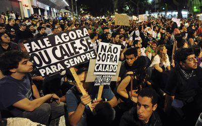 dfdb905ea02b27d8fb9134cff2bdc486 ブラジル各地でワールドカップの大敗をきっかけに政権への批判が再燃。