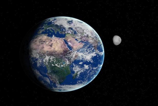 earthmoon 617x416 月が無ければ人類は滅びていた?