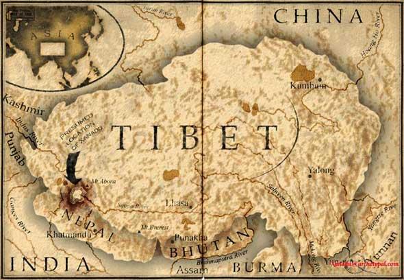 tibet map complete 天命知書に記された未来。チベットに眠る秘密。