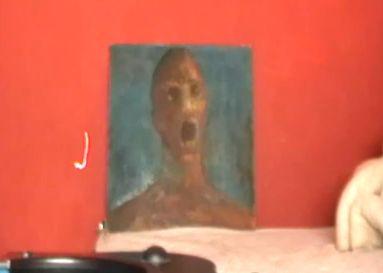 anguishedman2 もだえ苦しむ男。作者の血で描かれた不思議な絵。