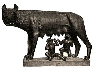 320px She wolf suckles Romulus and Remus 野生の人間。各地で目撃される獣人の正体か。
