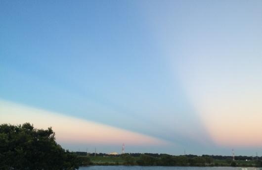 雲の影が関東地方で観測される!